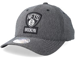 Brooklyn Nets Stretch Melange Black/Grey 110 Adjustable - Mitchell & Ness