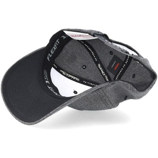 detailed look dc0f4 8b4c3 Brooklyn Nets Stretch Melange Black Grey 110 Adjustable - Mitchell   Ness  caps - Hatstorecanada.com