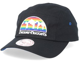 Denver Nuggets Perforated Faded Camper Black Adjustable - Mitchell & Ness