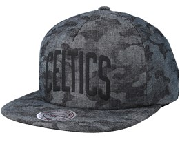 Boston Celtics Crowler Black Camo Snapback - Mitchell & Ness