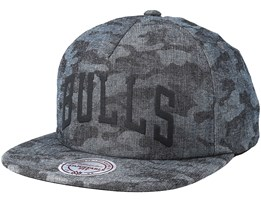 Chicago Bulls Crowler Black Camo Snapback - Mitchell & Ness