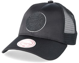 Toronto Raptors Satin Current Black/Black Trucker - Mitchell & Ness