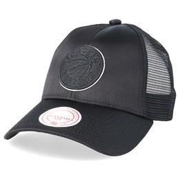 ad528dd12e4 Mitchell   Ness Toronto Raptors Satin Current Black Black Trucker - Mitchell    Ness ₹ 1