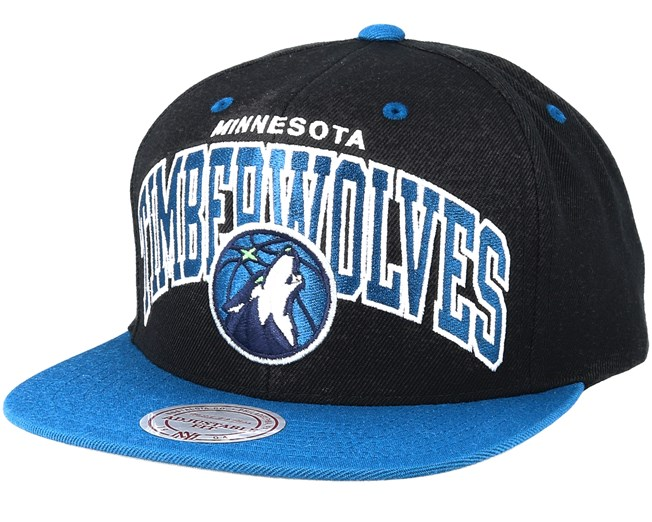 premium selection 3c9da 65b1d Minnesota Timberwolves Team Arch Black Blue Snapback - Mitchell   Ness caps  - Hatstoreworld.com