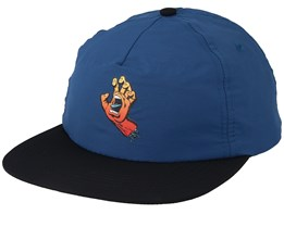 Fade Hand Ink Blue/Black Strapback - Santa Cruz