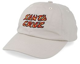 Fire Cap Washed Oatmeal Adjustable - Santa Cruz