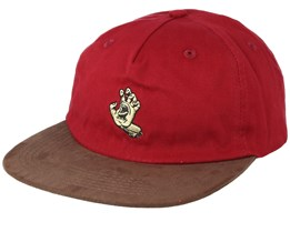 Screaming Mono Hand Burgundy Strapback - Santa Cruz