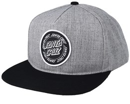 Ring Dot Charcoal/Black Snapback - Santa Cruz