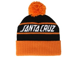 Strip Stripe Black/Tangerine Pom - Santa Cruz