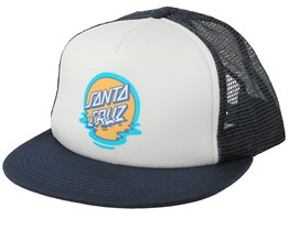 Dot Reflection Navy/White Trucker - Santa Cruz