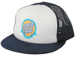 Dot Reflection Navy/White Trucker - Santa Cruz