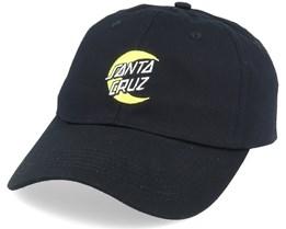 Moon Dot Dad Cap Black Adjustable - Santa Cruz