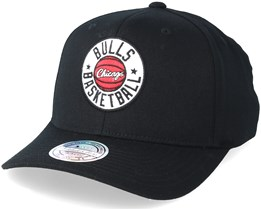 Chicago Bulls Full Court Patch Black 110 Adjustable - Mitchell & Ness