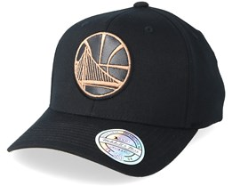 check out 1d157 71496 Golden State Warriors Leather Logo Black 110 Adjustable - Mitchell   Ness