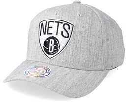 fdedc38346bcf Brooklyn Nets Outline Logo Melange Grey 110 Adjustable - Mitchell   Ness