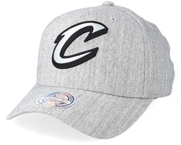 Cleveland Cavaliers Outline Logo Melange Grey 110 Adjustable - Mitchell & Ness