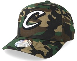 Cleveland Cavaliers Outline Logo Woodland Camo 110 Adjustable - Mitchell & Ness