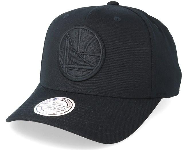 0891baaf6 Golden State Warriors Outline Logo Black 110 Adjustable - Mitchell ...