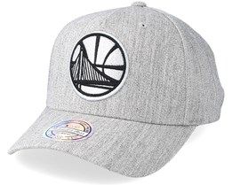 Golden State Warriors Outline Logo Melange Grey 110 Adjustable - Mitchell & Ness