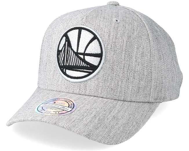 the latest bf0bd 06919 Golden State Warriors Outline Logo Melange Grey 110 Adjustable - Mitchell    Ness cap - Hatstore.co.in