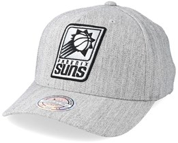 Phoenix Suns Outline Logo Melange Grey 110 Adjustable - Mitchell & Ness