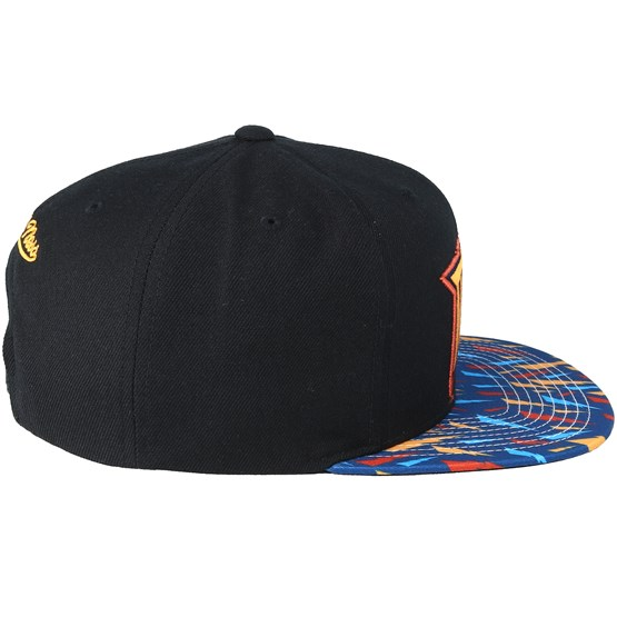 2a8239139f1 Golden State Warriors Team DNA Black Pattern Snapback - Mitchell   Ness  caps