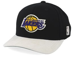 LA Lakers Cord Black/White 110 Adjustable - Mitchell & Ness