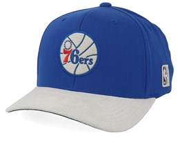 Philadelphia 76ers Cord Black/White 110 Adjustable - Mitchell & Ness