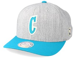 Charlotte Hornets Hometown Heather Grey/Teal 110 Adjustable - Mitchell & Ness