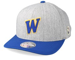 Golden State Warriors Hometown Heather Grey/Blue 110 Adjustable - Mitchell & Ness