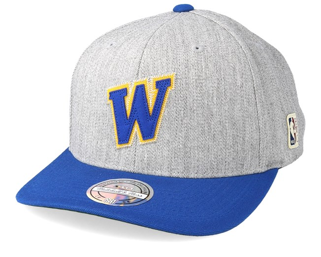 best website 46ee3 db929 Golden State Warriors Hometown Heather Grey Blue 110 Adjustable - Mitchell    Ness caps - Hatstoreworld.com