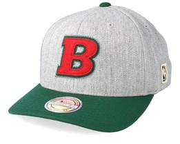 Milwaukee Bucks Hometown Heather Grey/Green 110 Adjustable - Mitchell & Ness