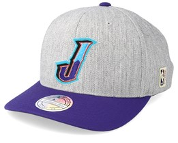Utah Jazz Hometown Heather Grey/Purple 110 Adjustable - Mitchell & Ness