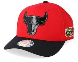 a3c7a33e235 Chicago Bulls Presto Black Red 110 Adjustable - Mitchell   Ness