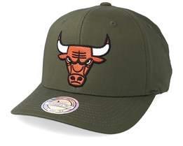 Chicago Bulls Battle Green 110 Adjustable - Mitchell & Ness