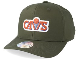 Cleveland Cavaliers Battle Green 110 Adjustable - Mitchell & Ness