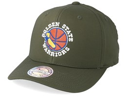 Golden State Wariors Battle Green 110 Adjustable - Mitchell & Ness