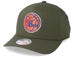 Philadelphia 76ers Battle Green 110 Adjustable - Mitchell & Ness