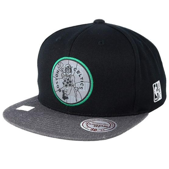 Keps Boston Celtics Reflective Duo Black/Grey Snapback - Mitchell & Ness - Svart Snapback