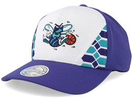 Charlotte Hornets DNA 110 White/Purple Adjustable - Mitchell & Ness