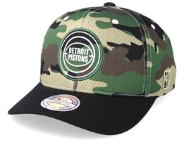 Detroit Pistons Mesh 110 Camo/Black Adjustable - Mitchell & Ness