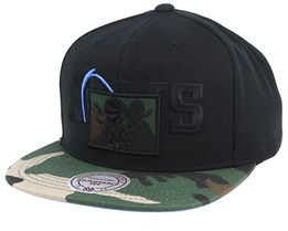 Cleveland Cavaliers Blind Camo Black/Camo Snapback - Mitchell & Ness