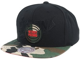 Detroit Pistons Blind Camo Black/Camo Snapback - Mitchell & Ness