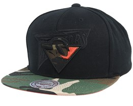 Golden State Warriors Blind Camo Black/Camo Snapback - Mitchell & Ness