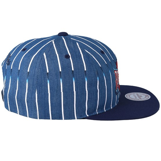 online store 4607a 21292 Houston Rockets Pinstripe Denim Navy Snapback - Mitchell   Ness caps -  Hatstoreworld.com
