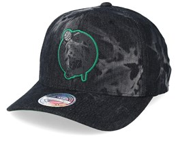 Boston Celtics Charge Washed Black Denim 110 Adjustable - Mitchell & Ness