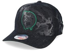 Boston Celtics Charge Washed Black Denim 110 Adjustable - Mitchell & Ness
