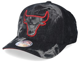 Chicago Bulls Charge Washed Black Denim 110 Adjustable - Mitchell & Ness