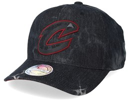 Cleveland Cavaliers Charge Washed Black Denim 110 Adjustable - Mitchell & Ness