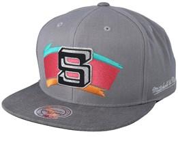 San Antonio Spurs Overlap Grey Snapback - Mitchell & Ness
